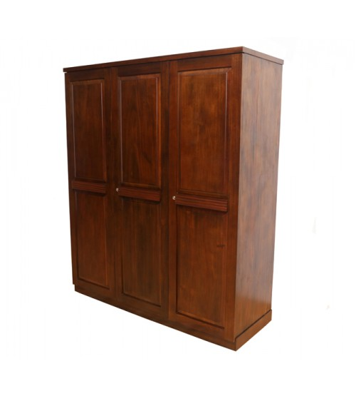 FLUTED 3 DOOR WARDROBE