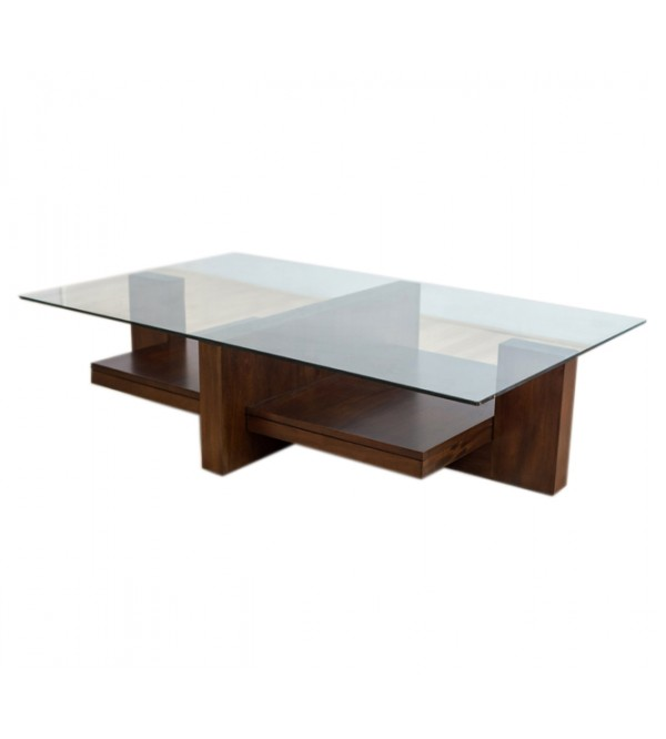 MAC GLASS TOP COFFEE TABLE