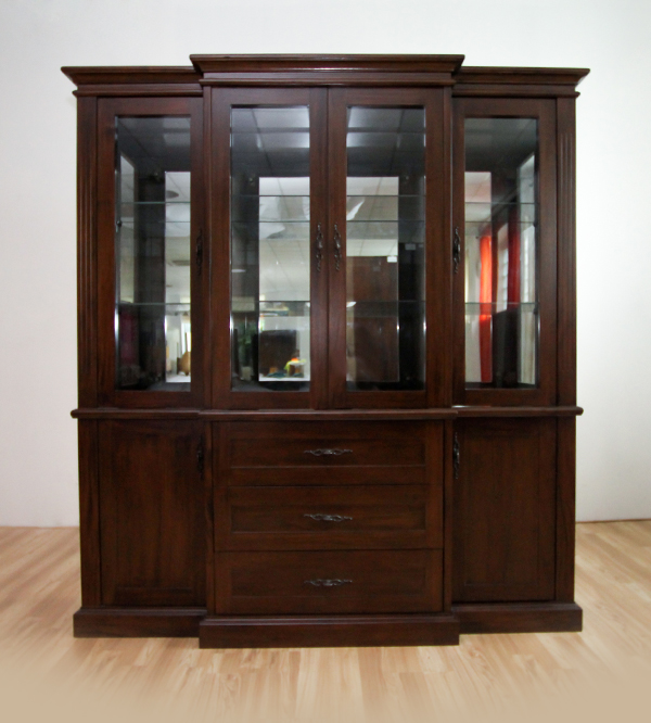 RIO 4 DOOR GLASS CABINET